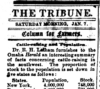 Local Newspaper Column for Farmers – 1871 – One Hundred and Fifty Years Ago